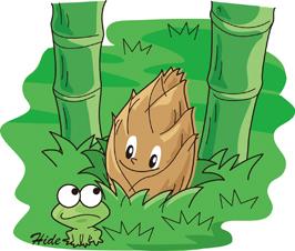 竹と筍・カエル*62-176.1.jpg